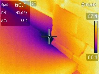 Water Leaks Moisture under floor Apple Infrared Home Inspection